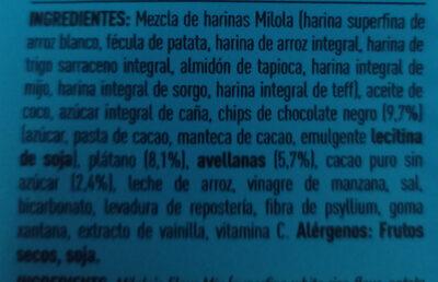 MILOLA Doble chocolate y plátano - Ingrédients - es