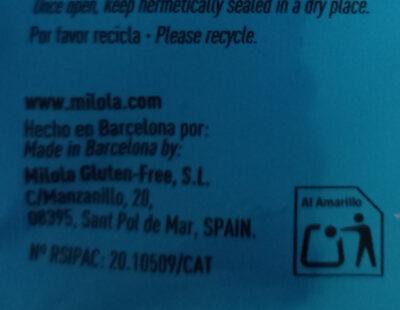MILOLA Doble chocolate y plátano - Instruction de recyclage et/ou informations d'emballage - es