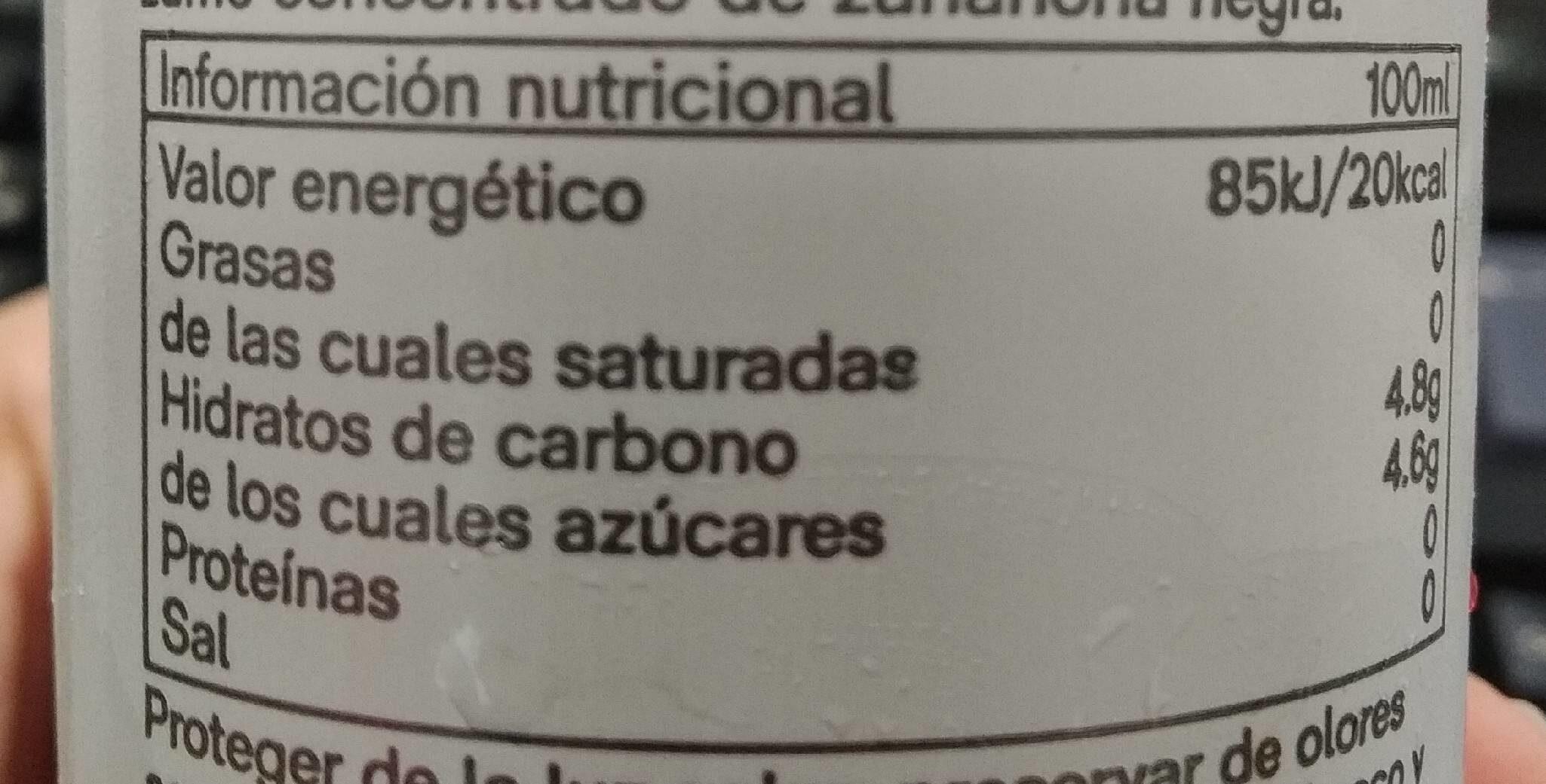 Blood Orange - Informació nutricional