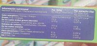 Panecitos Multicereales - Información nutricional - es