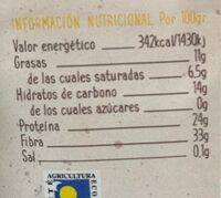 cacao puro bio - Información nutricional