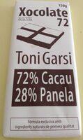 Xocolate 72%cacao 28%panela - Produit - ca