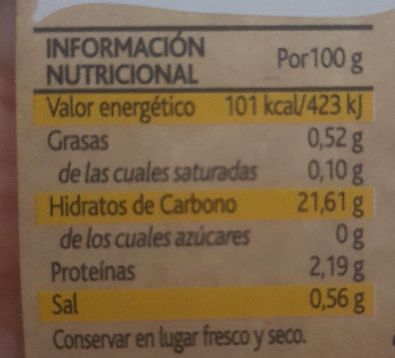 Amaizin Crispies Maíz dulce - Nutrition facts - es