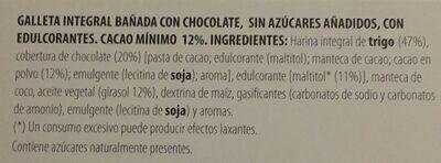 Galleta Carolina - Ingredients - es