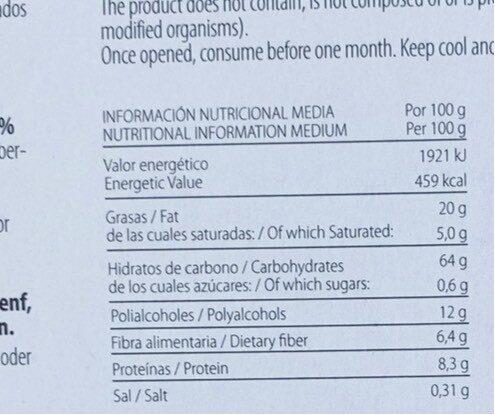 Galleta Carolina - Informació nutricional - es