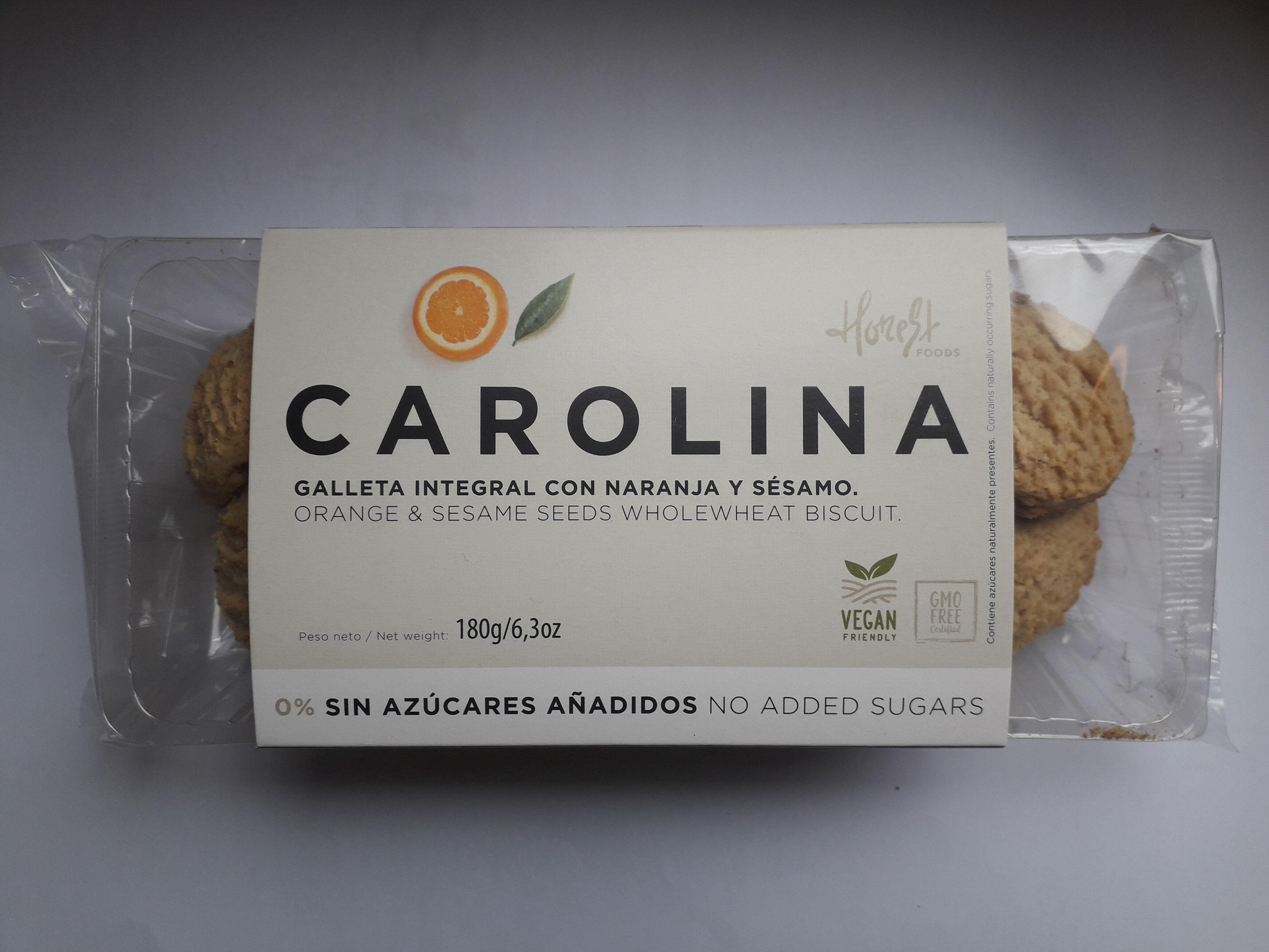 Galleta integral con naranja y sesamo - Produit
