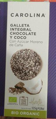 galleta integral chocolate coco - Producte - es