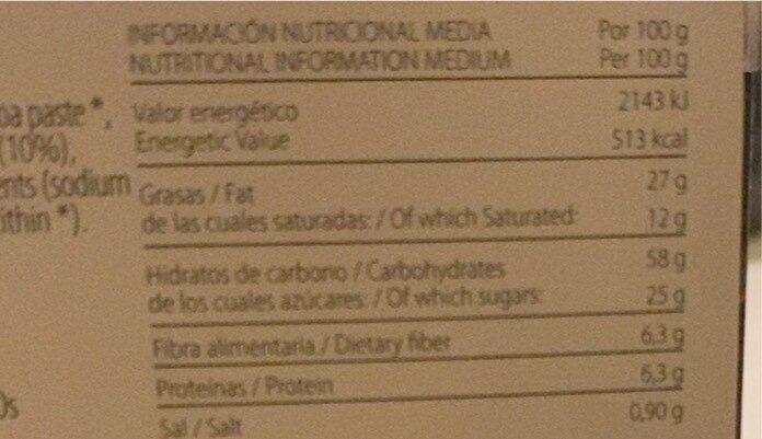 galleta integral chocolate coco - Informació nutricional - es