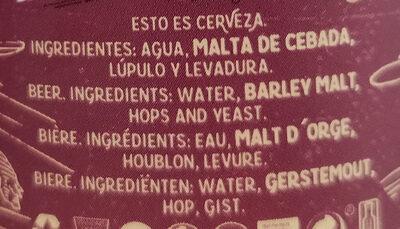 La virgen - Ingrediënten - en