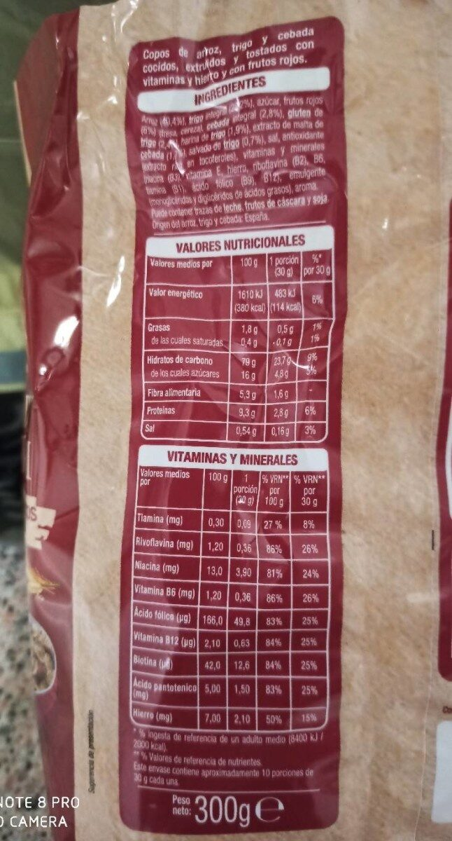 Deli Form 6% frutos rojos - Voedingswaarden - es
