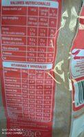 Deli form - Informations nutritionnelles - es