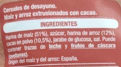 Cao Flakes - Ingredients - es