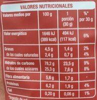 Cao Flakes - Nutrition facts - es