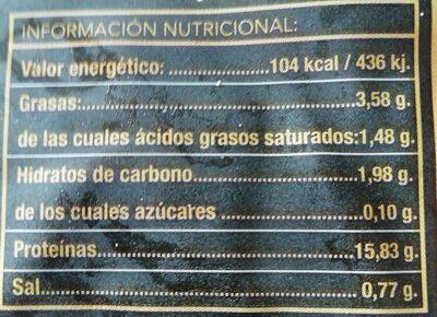 Callos de Ternera - Información nutricional - es