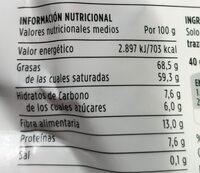 Coco deshidratado - Informations nutritionnelles - es