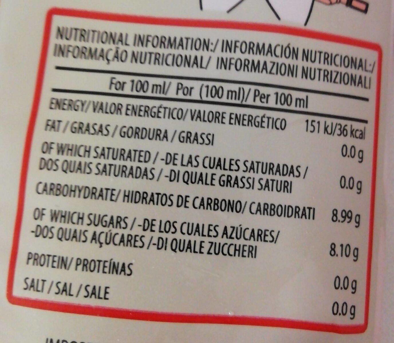 Lap ices - Informació nutricional