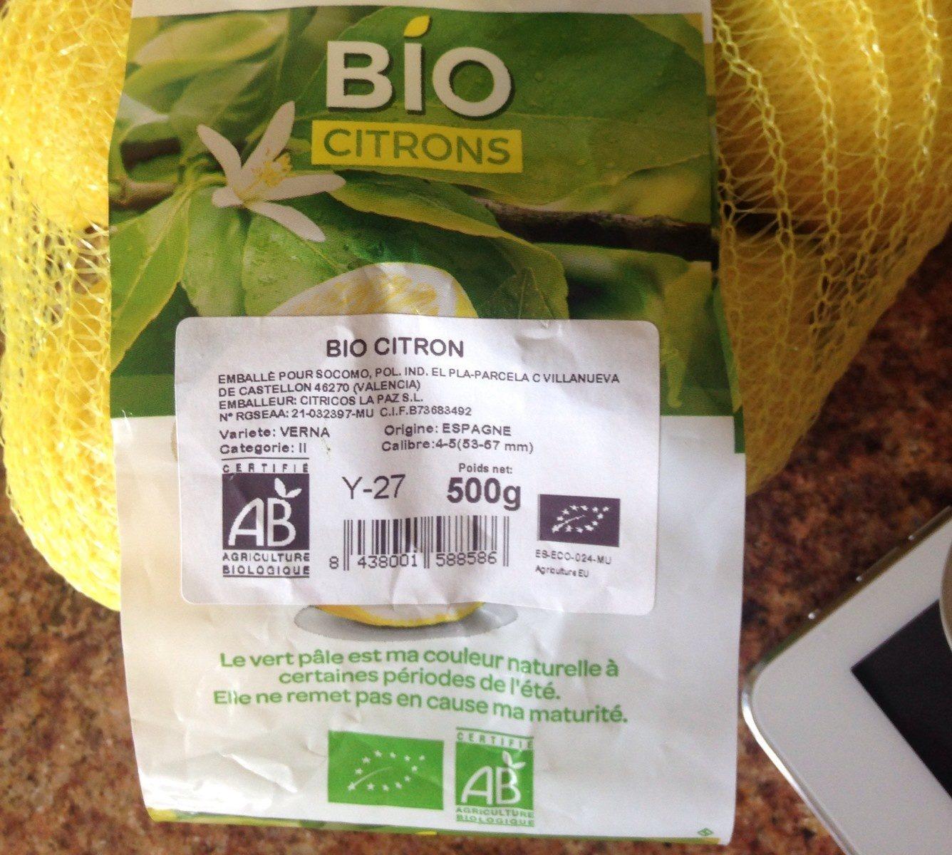 Citron bio - Product - fr