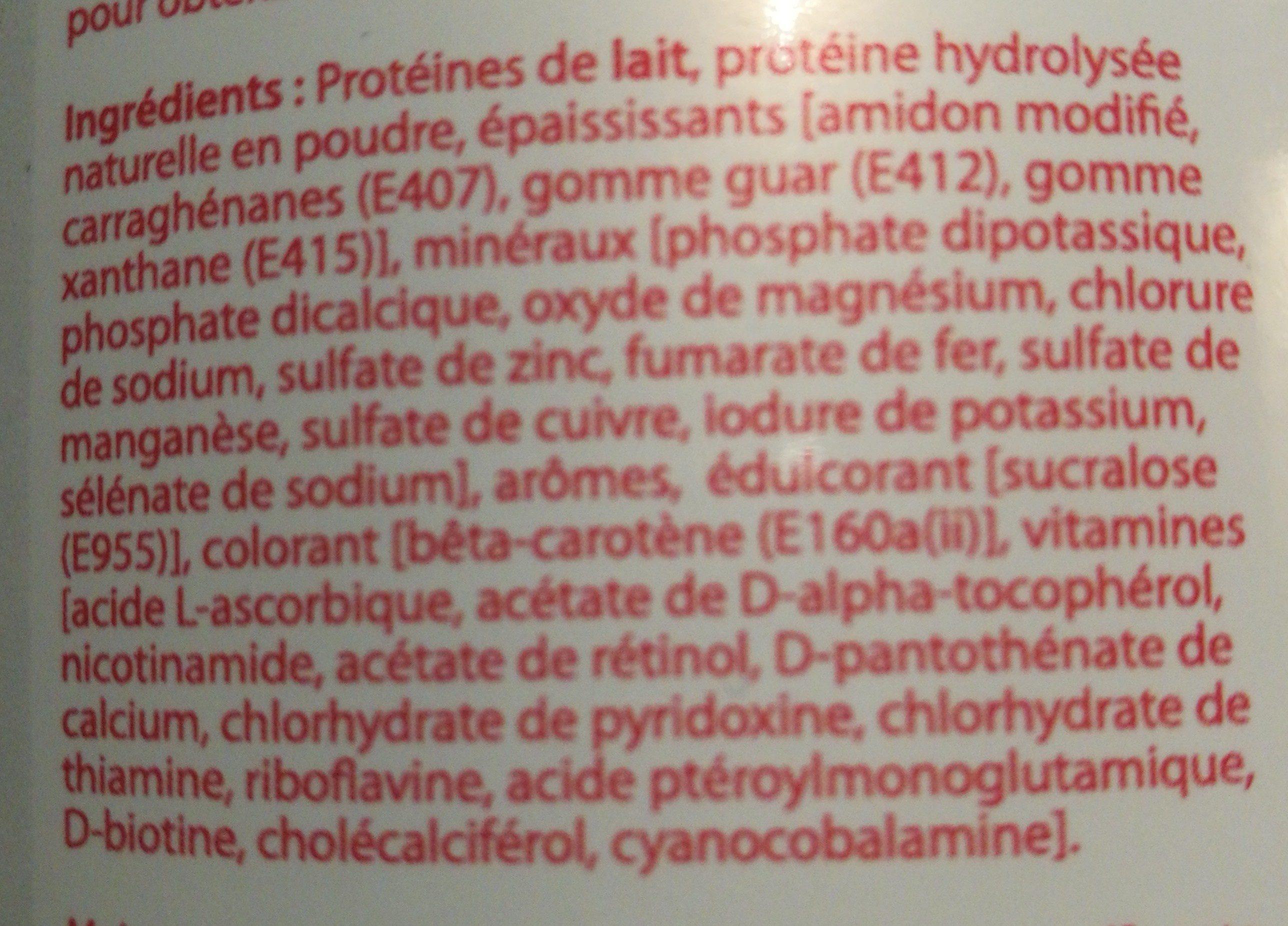 Protéifine Entremets Vanille Pot 400G - Ingredients