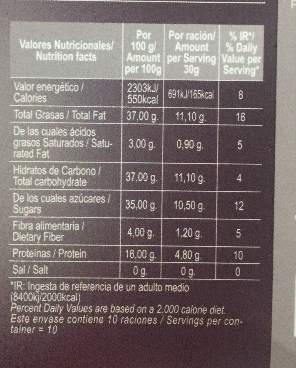 Turrón duro rafa gortotxategi - Información nutricional - es