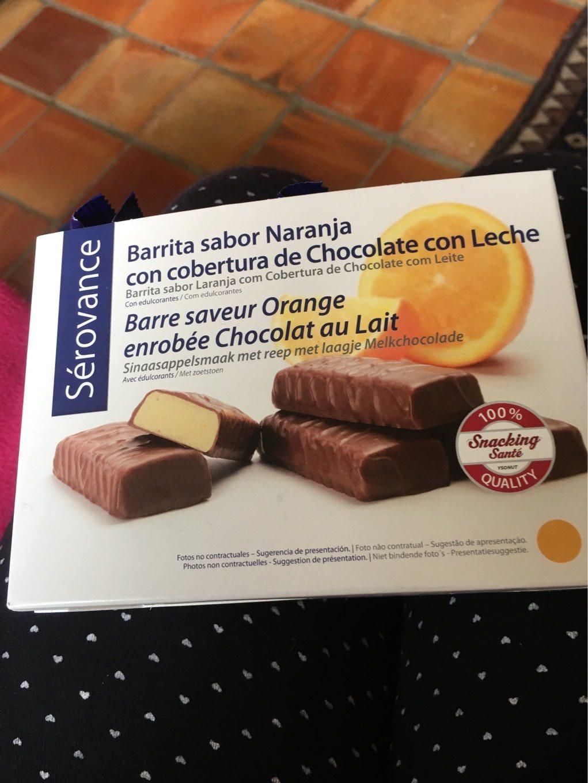 Sérovance Barre Orange Chocolat Au Lait 7unités - Informations nutritionnelles - fr