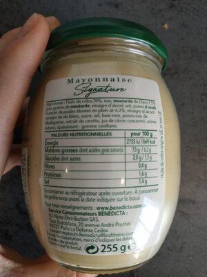 Mayonnaise Signature - Valori nutrizionali - fr