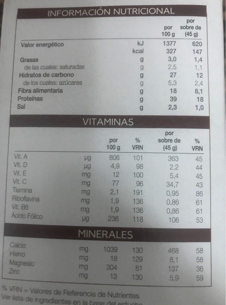Cremas hiperproteicas - Informations nutritionnelles - es