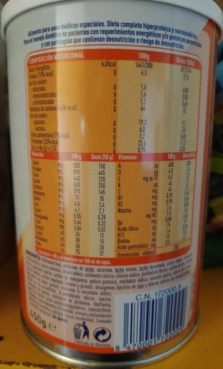 Meritene EXTRA Nestle - Nutrition facts - pt