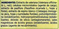 Valeriana con pasiflora y espino blanco - Ingrédients
