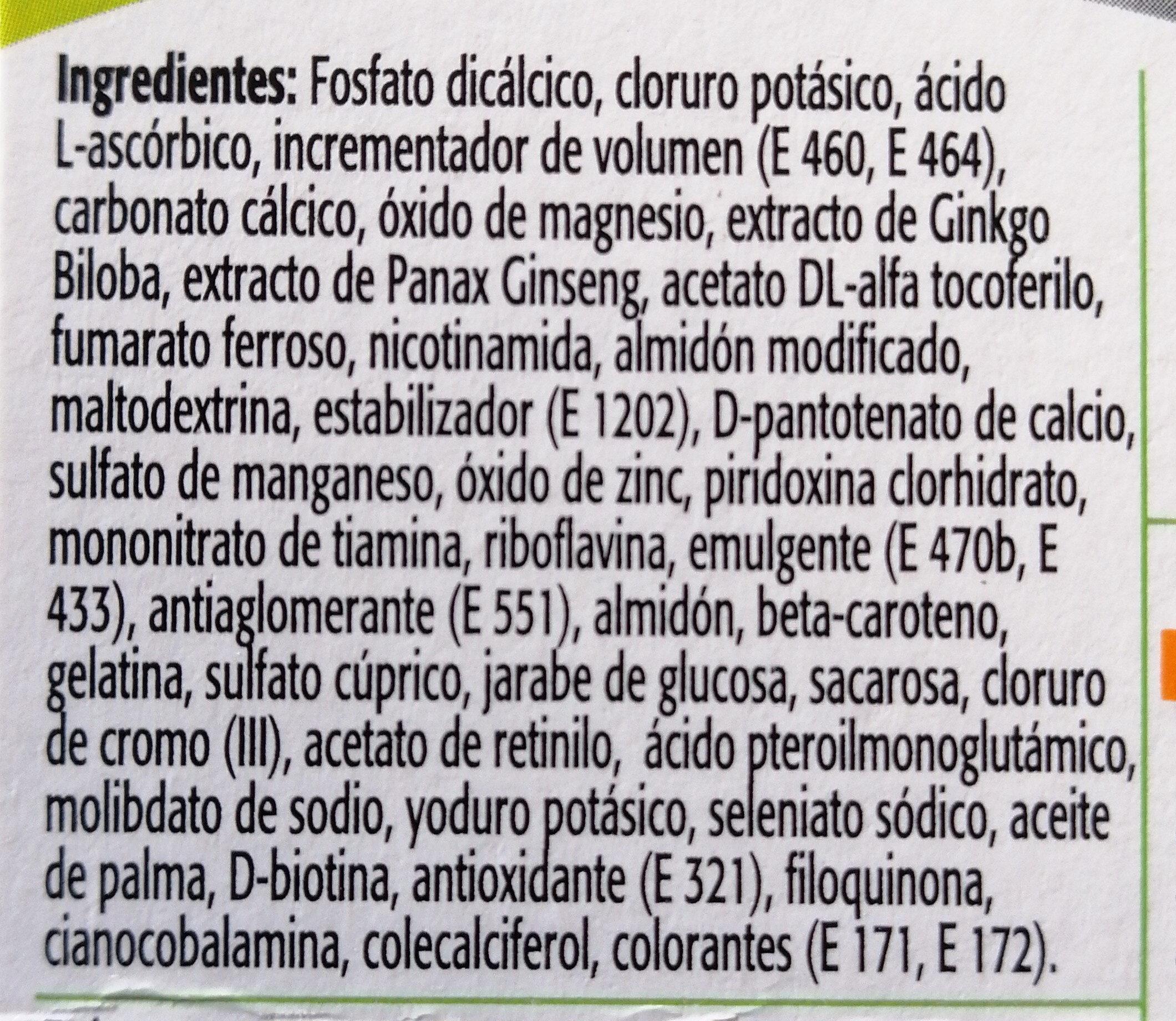 Multicentrum Plus Giseng & Ginko - Ingredients - es