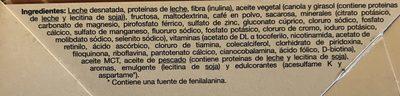 Optifast Cafe 53GR 12 Sobres - Ingredients