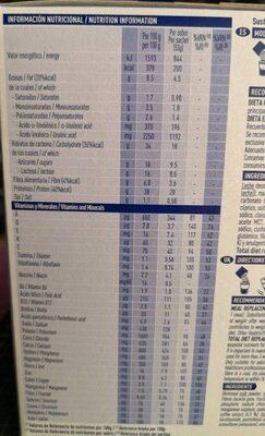 Optifast Cafe 53GR 12 Sobres - Nutrition facts