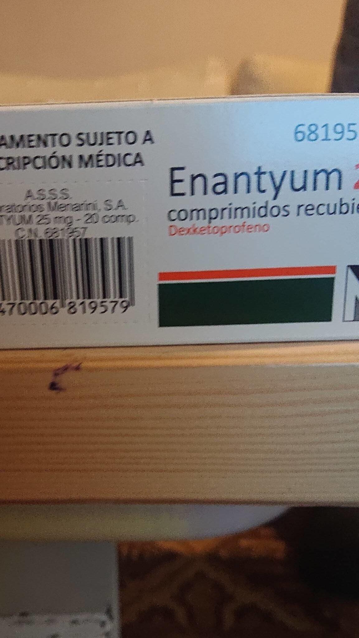 Enantyum Comp. Recub. 25 MG - Produit - fr