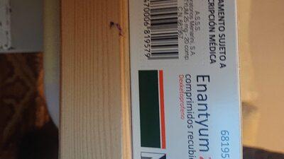 Enantyum Comp. Recub. 25 MG - Informations nutritionnelles - fr