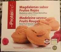 Magdalenas sabor frutos rojos - Producto