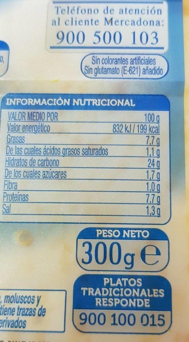 Fideuá de Marisco - Informations nutritionnelles - en