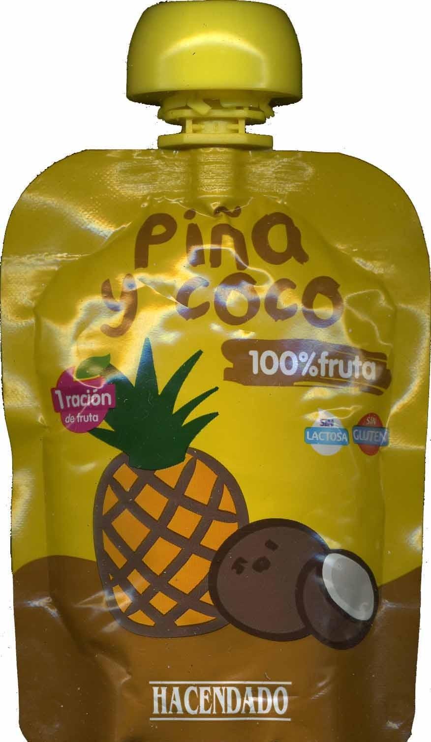 Pur de frutas pi a y coco hacendado 90 g - Pure de castanas y manzana ...