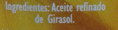 Aceite refinado de girasol - Ingredients