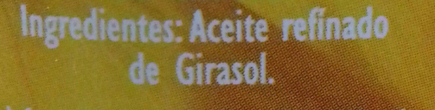 Aceite Refinado De Girasol - Ingrediënten
