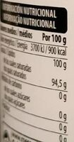 Aceite de coco - Voedingswaarden - es