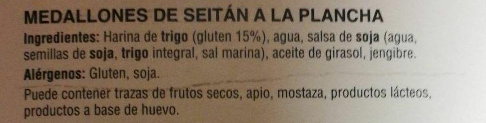 Seitán a la piastra - Ingredientes
