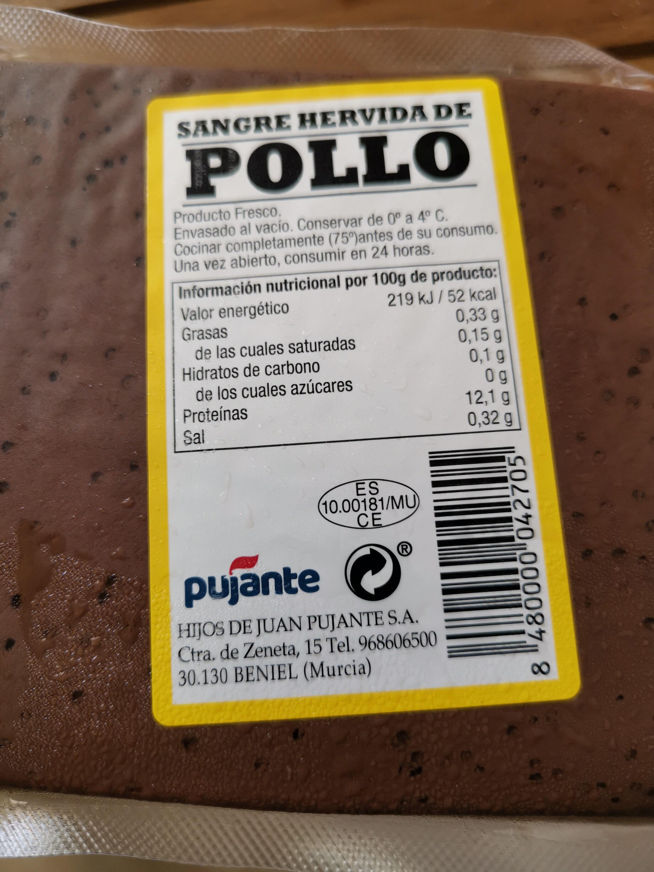 Sangre hervida de pollo - Producto - es