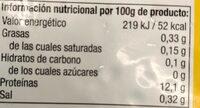 Sangre hervida de pollo - Información nutricional - es
