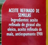 Aceite refinado de semillas especial para freír - Ingredienti - es