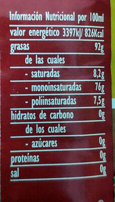 Aceite refinado de semillas especial para freír - Valori nutrizionali - es