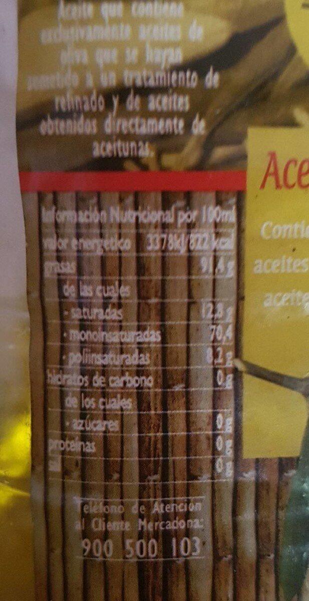 Aceite de Oliva - Informació nutricional - es