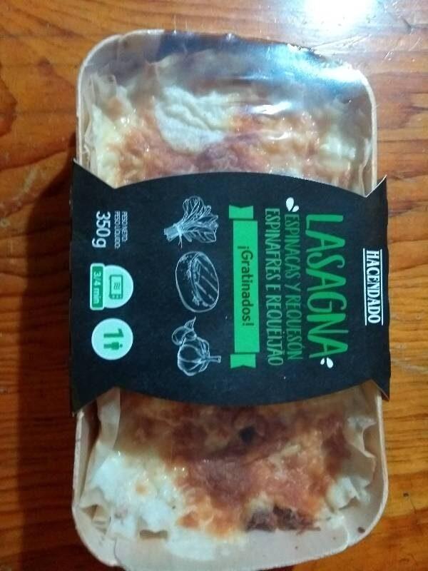 Lasagna espinacas y requesón - Producte