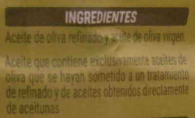 Aceite de oliva - Ingredients - es