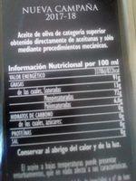 Aceite de oliva virgen extra - Ingredients - fr