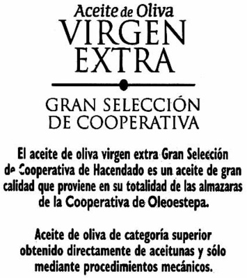 Aceite De Oliva Virgen Extra - Ingredients