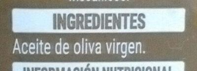 Aceite de oliva virgen - Ingrédients - es